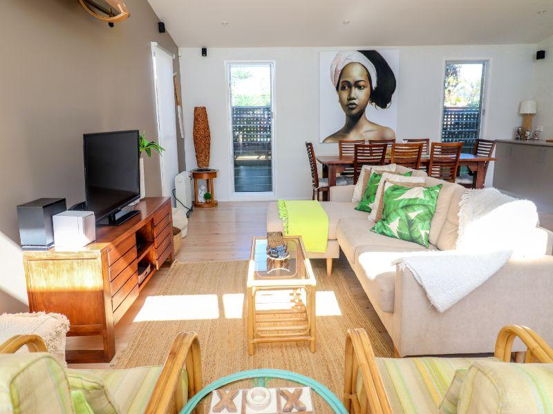 Surfside has a large open plan living and dining area